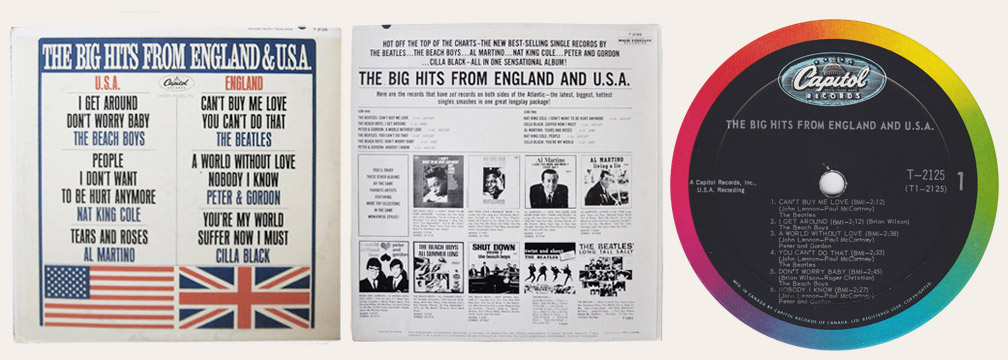 Big Hits From England And USA Canadian LP