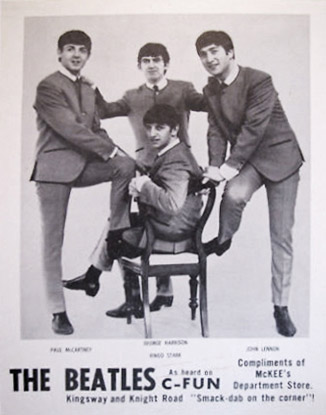 This Was A Rare Promo Photo Given Out To Beatles Fans In Early 1964 At McKees Department Store Vancouver