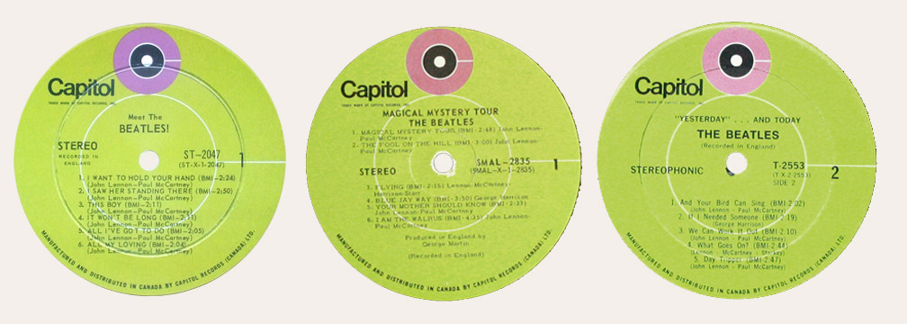 The Capitol 6000 website - Beatles Different Record Labels