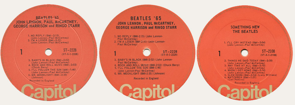 The Capitol 6000 Website Beatles Different Record Labels