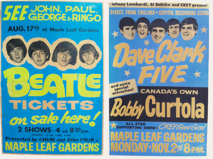 The Beatles And Dave Clark Five Toronto Show Poster