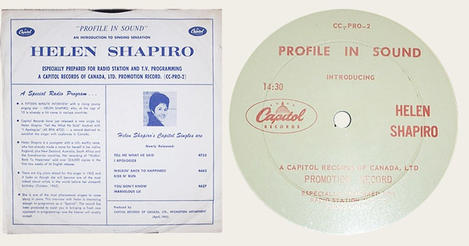 The Capitol 6000 website - Capitol promotional pressings