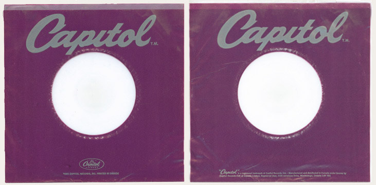 The Capitol 6000 website - Capitol inner sleeves for 78 RPM, 45 RPM