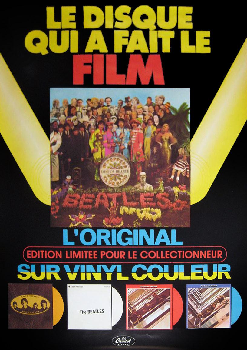 This Was A Poster Made In Both French And English To Promote The New Colored Vinyl Releases Of Beatles Albums Amongst Them Were Unique Canadian Gold