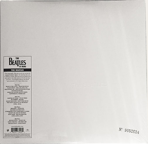 Mono white album reissue