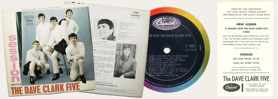 Session With The Dave Clark Five Canadian LP