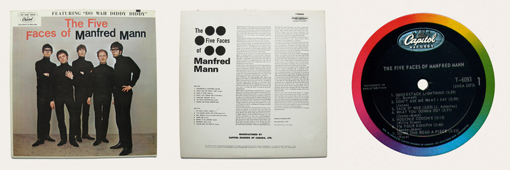 Five Face Of Manfred Mann Canadian LP
