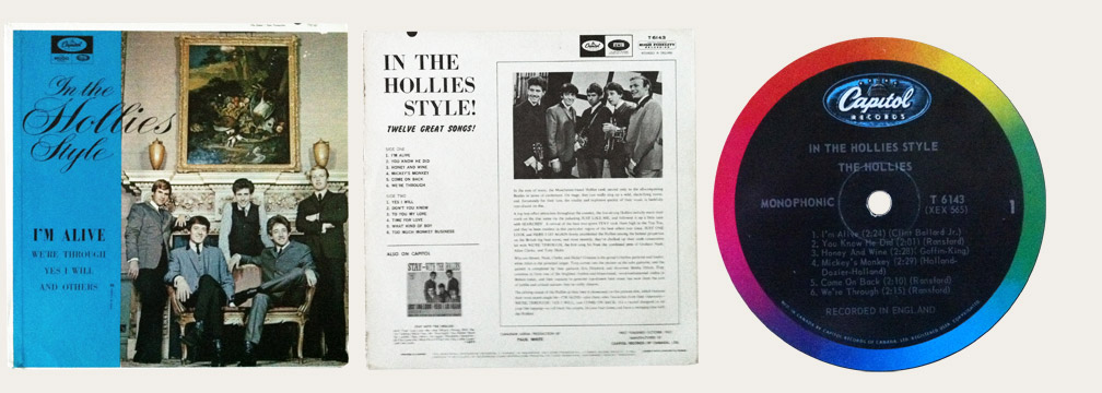 In The Hollies Style Canadian LP