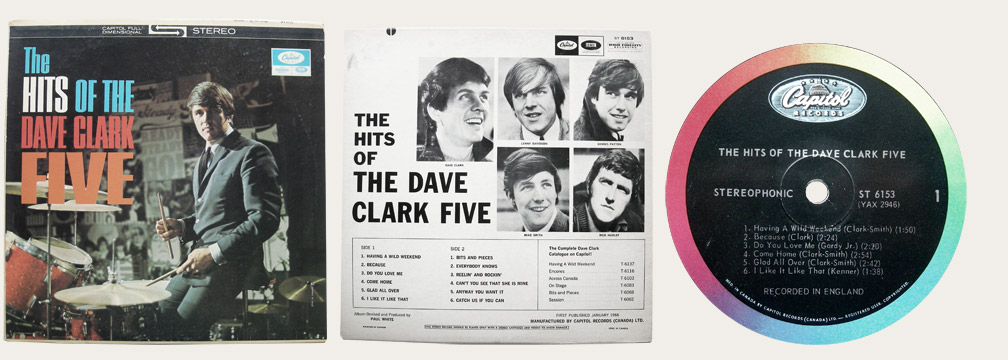 Hits Of The Dave Clark Five Canadian LP