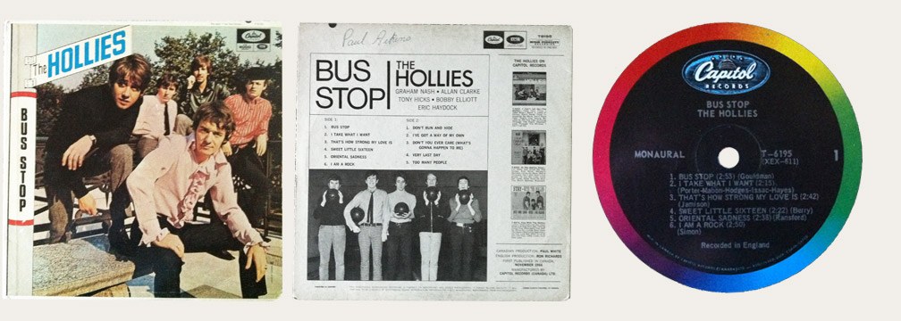 Hollies Bus Stop Canadian LP