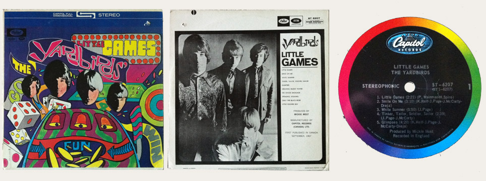 Yardbirds Little Games Canadian LP