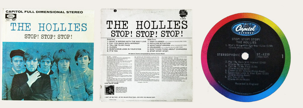 Hollies Stop Stop Stop Canadian LP