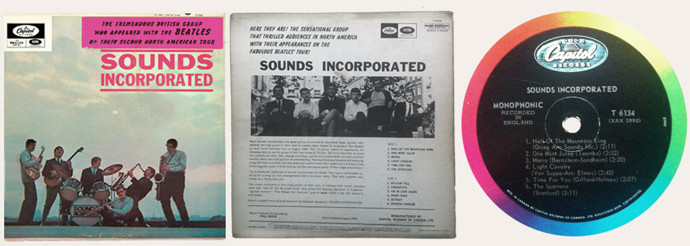 Sounds Incorporated Canadian LP