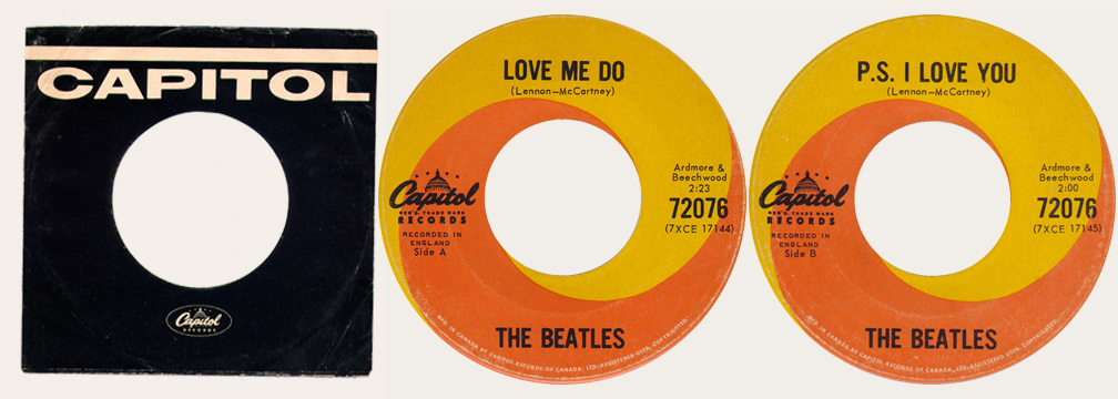 Love Me Do Canadian 45
