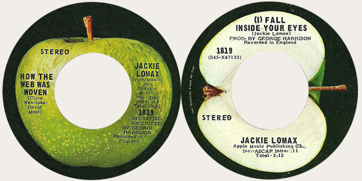 Jackie Lomax How The Web Was Woven Canadian Apple 45