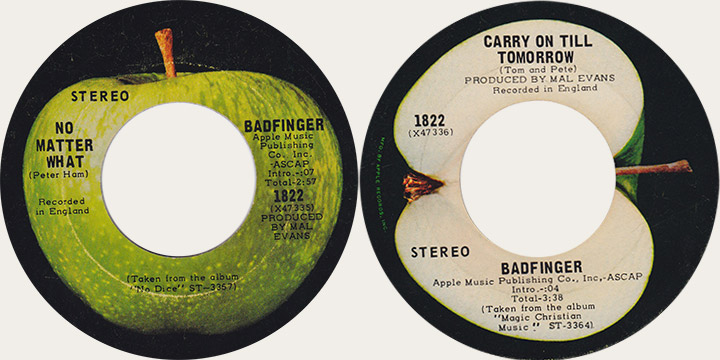 Badfinger No Matter What Canadian Apple 45