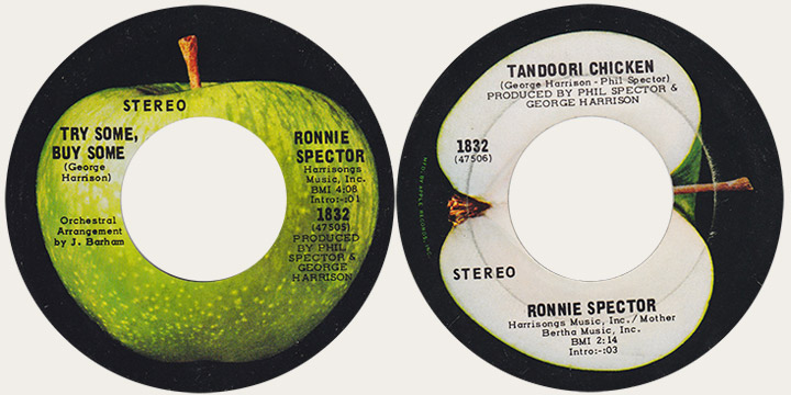 Ronnie Spector Try Some Buy Some Canadian Apple 45