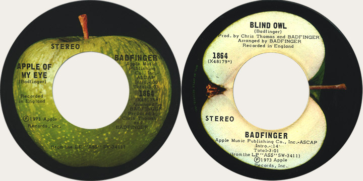 Badfinger Apple Of My Eye Canadian Apple 45