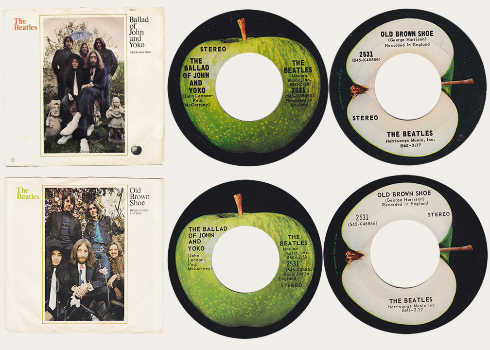 Ballad Of John And Yoko Canadian Apple 45