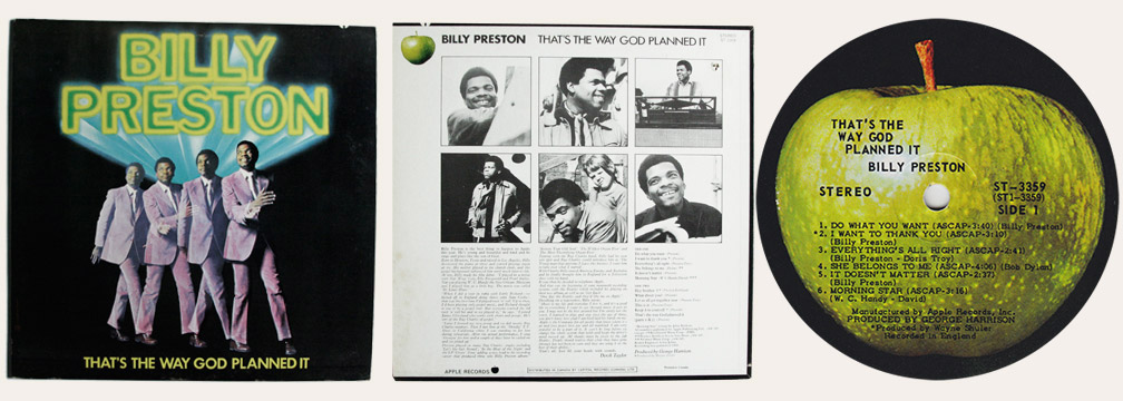 Billy Preston That's The Way God Planned It Canadian LP