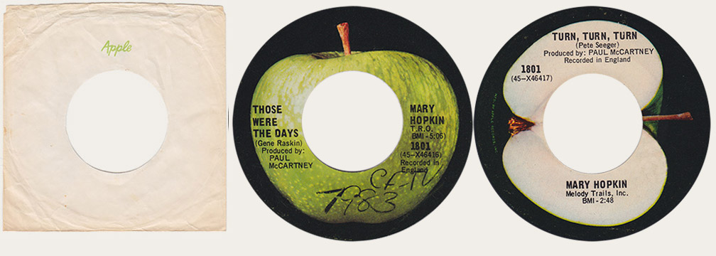 Mary Hopkin Tose Were The Days Canadian Apple 45
