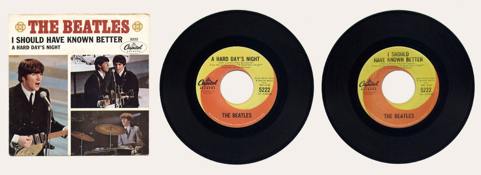A Hard Day's Night Canadian 45
