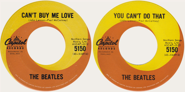 Can't Buy me Love 45 rpm