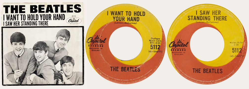 I Want To Hold Your Hand Canadian 45