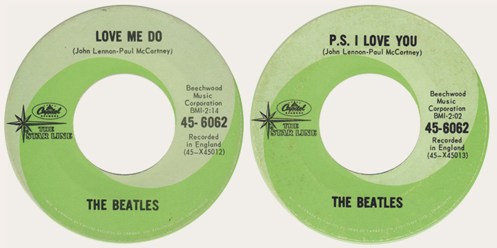 Love Me Do starline 45 rpm