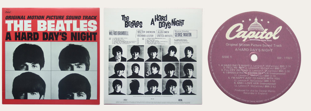 A Hard Day's Night Capitol Purple Label Canadian LP