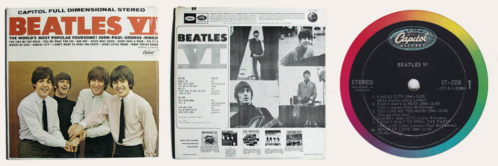 Beatles VI Canadian LP