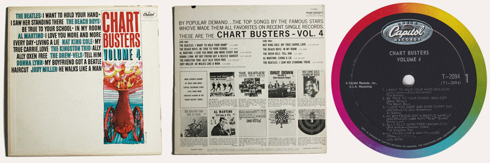 Chartbusters vol.4 Canadian LP
