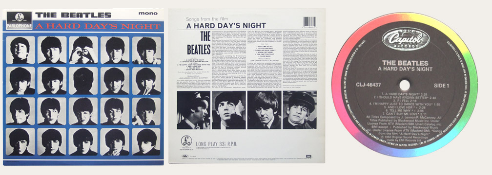 A Hard Day's Night CLJ Canadian LP