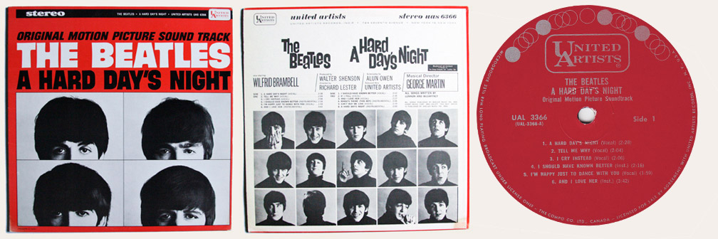 Hard Day's Night Canadian LP