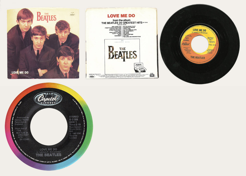 Love Me Do 1982 Reissue Canadian 45