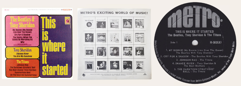 Beatles Metro Canadian LP