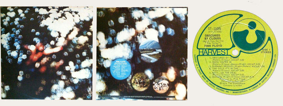 Pink Floyd Obscured By Clouds Canadian LP